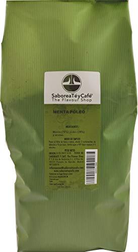SABOREATE Y CAFE THE FLAVOUR SHOP Infusión Natural De Plantas Menta Poleo En Hoja Hegra A Granel Digestiva Adelgazante 500 gr