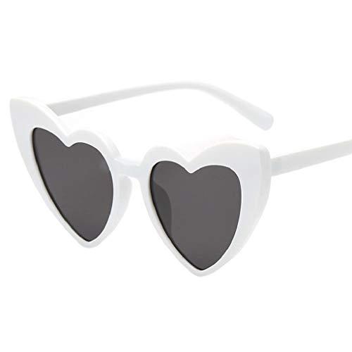 LUCKYCAT Hippy Brille Herz Geformt Sonnenbrille for Hippie Verrücktes Kleid Zubehörteil
