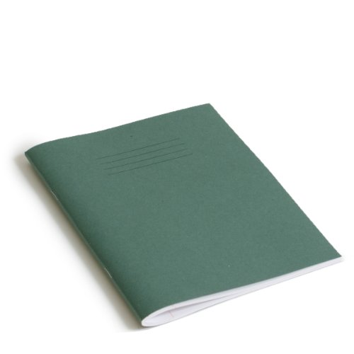 RHINO F8M-Quaderno, 9 x 7, 120 pagine, colore: verde scuro (confezione da 10)