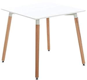 DESIGN NORDICO - elegante tavolino quadrato con angoli stondati in stile scandinavian, ideale per salotto, cucina, bar, gelateria e molto altro. Il ripiano del tavolino da pranzo è disponibile in 2 dimensioni ed è ideale per inserirsi anche negli amb...