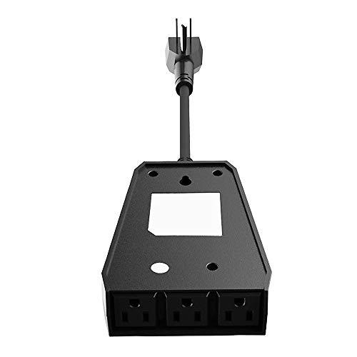 YMXLJJ wasserdichte Smart Plug WiFi-Außenbuchse, 15A WiFi Twin-Wandbuchsen mit USB-Anschluss, Smart Wireless Socket Outlet Timer-Schalter Fernbedienung Ihrer Geräte,Sl 803