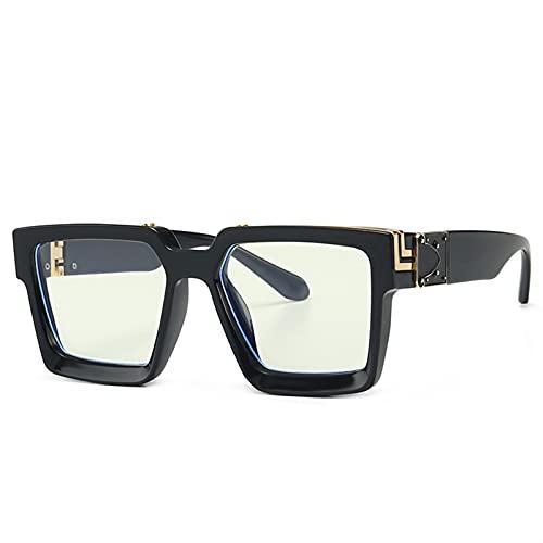 JIANCHEN Gafas de Sol Runbird Retro Square Gafas de Sol Mujeres de la Marca diseñador de Verano Estilos de Verano Colores de Caramelo Moda de Plata Mirror Sombras Hombres UV400 (Color : 4)