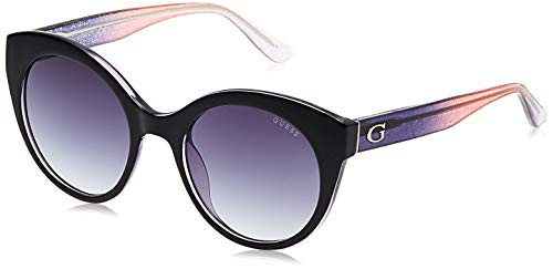 Guess GU7553 5305B Sonnenbrille GU7553 05B Oval Sonnenbrille 53, Schwarz