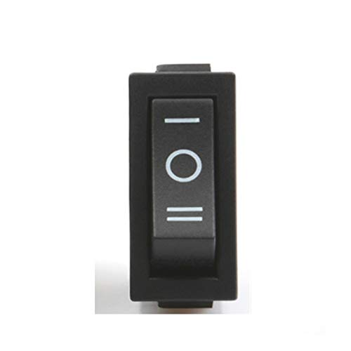 YUANJING-PHONE CASE Durable KCD3 Rocker Switch On-Off 2 Posición 3 Pin Equipo eléctrico con Interruptor de alimentación Ligera 16A 250VAC / 20A 125VAC (Color : Black ON Off ON)