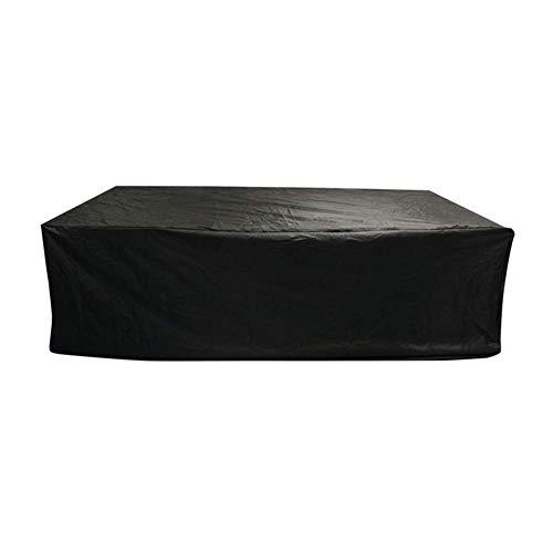 Huolirong Funda Protectora para Muebles Impermeable Cubierta Protectora Tarea Pesada Funda For Mesa Jardín,Negro,213×132×74cm Muebles De Jardín Funda