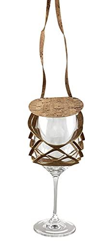 VINSTRIP Glassling - Soporte para copas de vino con protección contra salpicaduras, corcho
