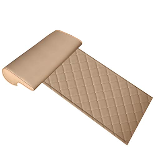 GFYWZ Car Extended Seat Leather Cushion With Comfort Leg Support Pillow For Long-Distance Driving For Cars Buses Trains Office Home Leg Rest Cushion,Beige