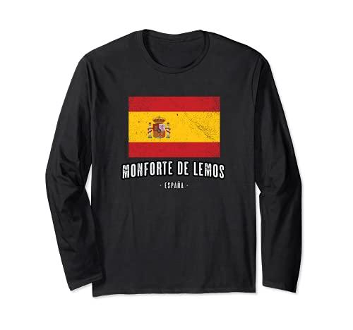 Monforte de Lemos España   Souvenir - Ciudad - Bandera - Manga Larga
