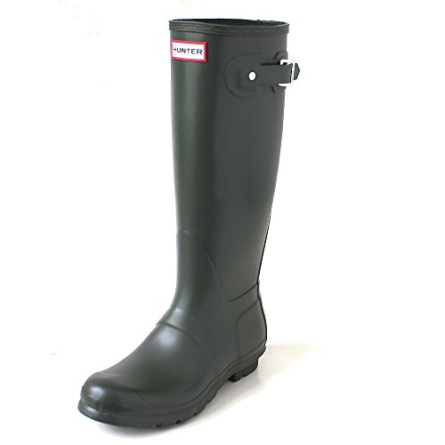 Hunter Women's Original Tall Dark Olive Rain Boots - 11 B(M) US