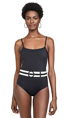 Solid & Striped Women's The Nina Belted One Piece Swimsuit, Black, X-Small
