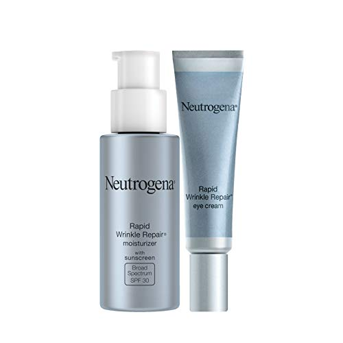 Neutrogena Rapid Wrinkle Repair Anti-Wrinkle Retinol Under Eye Cream for Dark Circles & Under Eye Bags - Wrinkle Eye Cream with Hyaluronic Acid, Glycerin & Retinol Cream, 0.5 Fl Oz