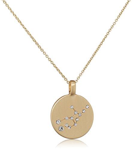 Pilgrim Damen-Kette mit Anhänger teilvergoldet Kristall weiß Rundschliff 27 cm - 521612081