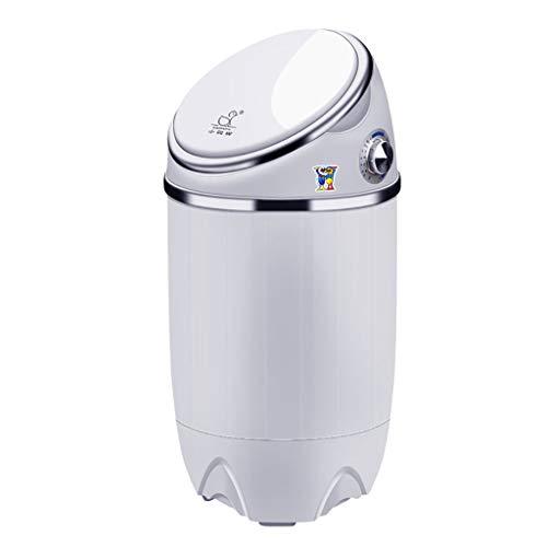 Sunjun Mini Lavadora, Lavadora De Ropa Compacta Portátil para Niños Caravanas Al Aire Libre para Niños Pequeños Apartamentos De Viaje 3.5Kg Capacidad De Lavado (Color : Blanco)