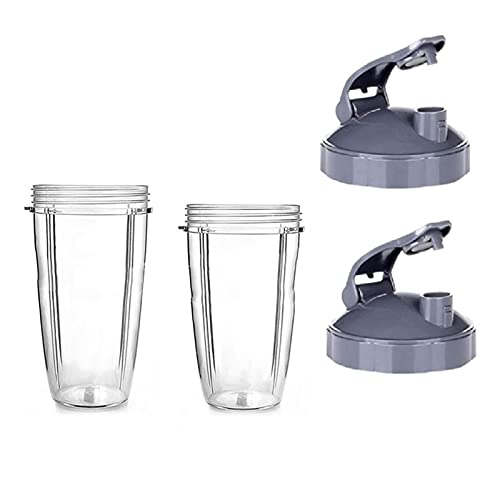 WUYUNXIAN Cups 3. 2 Once / 24. Oz & Cuplid Fit per Nutribulet, Parte di Ricambio Adatta per Nutribulet Juicer in Forma per Nutribulet 90 0W 600W. Spremiagrumi del frullatore