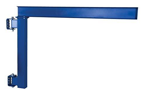 Vestil JIB-LC-20 Manual Wall Mount Steel Jib Crane, Low Clearance 2000 lb Capacity, 180 degree Rotation, Under I-Beam to Bottom Frame 57, I-Beam 4