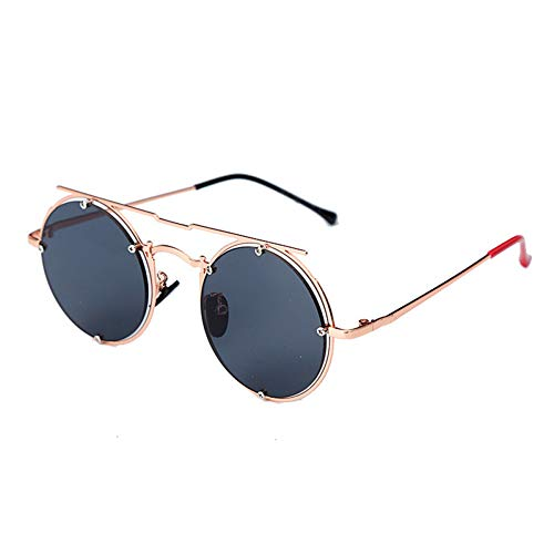 YIERJIU Gafas de Sol Luxury Vintage Brand Ladies Fashion Black Sunglasses Hombres Classic Round Outdoor Sunglasses uv400 oculos de Sol Gafas,C1