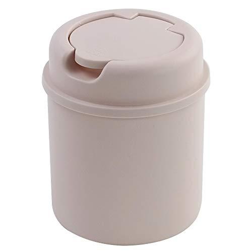 Lesbin Plactic - Papelera pequeña con tapa abatible, 0,5 galones, color rosa