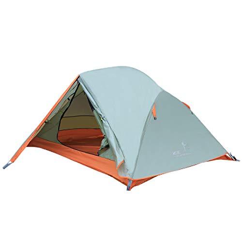 Azarxis Tenda Tende da Campeggio 1 2 Posti Persone 3 4 Stagioni Ultra Leggera Impermeabile Resistente Facile Doppio Strato (Verde Erba - 2 Persone)
