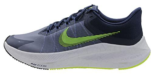 Nike Men's Zoom Winflo Midnight Navy/White/Hyper Royal/Volt Running Shoe (CW3419-401)