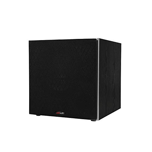 Polk Audio PSW10 10' Powered Subwoofer - Power Port Technology, Up to 100 Watts, Big Bass in Compact Design, Easy Setup with Home Theater Systems Black