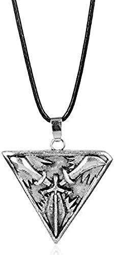 Collar para Hombre Juego League Legends Joyas Trinity Force Cuerda Cadena Collar Striangle Swords Arma Colgante para Hombres Mujeres