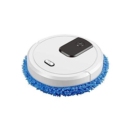 escoba eléctrica Robot de barrido inteligente aspiradora recargable limpiadora recargable aspiradoras humidificadoras de rociador 3 en 1 limpiador de robots (Color : White)
