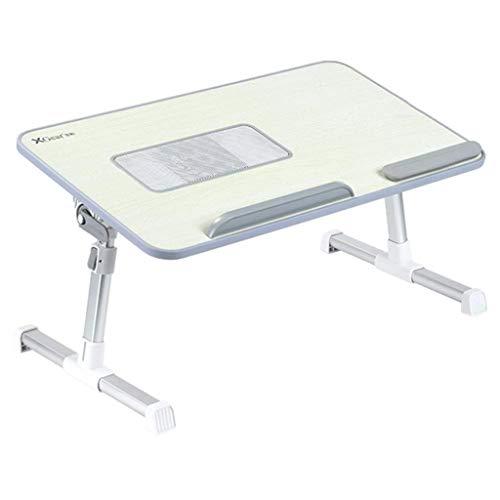 NYDZ Table Pliante de lit avec Ventilateur USB for Ordinateur Portable Ordinateur de Bureau à Hauteur réglable Plateau Portable Gris