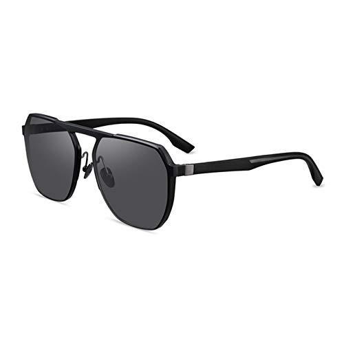 FHW Gafas De Sol, Gafas De Sol Polarizadas para Conducir, Almohadillas Nasales De CeráMica MóViles, Lentes De Nailon De Alta DefinicióN, Aptas para Viajes, Compras, Disparos En La Calle,Azul