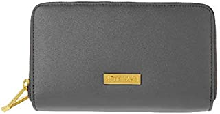 JOY & IMAN Leather Wallet with RFID-Blocking Technology - Gray