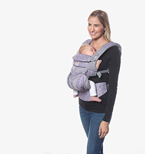 ERGO Baby エルゴベビー (Ergobaby) 抱っこひも メッシュ おんぶ 前向き抱き [日本正規品保証付] (洗濯機で洗える) ベビーキャリア 成長にフィット オムニ360 クールエア/ピンクデジカモ 0か月~ CREGBCS360PPKDG