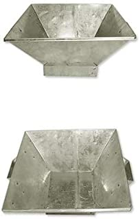 Poojan Samagri Hawan Kund for Indian Cultural Religious Item for Home and Office (Silver, 10 inch X 10 Inches)