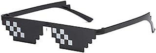 Sunglasses 8 Bit MLG Pixelated Sun Glasses Thug Life Party Eyeglasses Mosaic Vintage Eyewear For Men Women XIAO