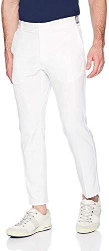 NIKE Men's Flex Slim Golf Pants, White/Flat Silver, Size 35/32