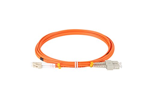 ForTronix LC to LC LC to SC Duplex Fiber Optic Patch Cable LSZH 50/125 Multimode Orange 3M Length (LC to SC Duplex Fiber 3M)