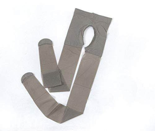 CIPOPO Damen Sexy Strumpfhose,Frauen Hoch Taille Ouvert Strumpfhose Elastische Legging Stockings Strumpfhosen Tights Pantyhose (Gray)