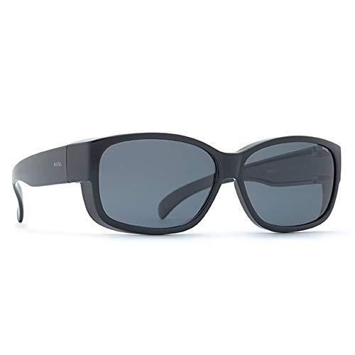 INVU Unisex Polarisierte Sonnenbrille EasyFit E2401 Schwarz (E2401D), Linse Braun