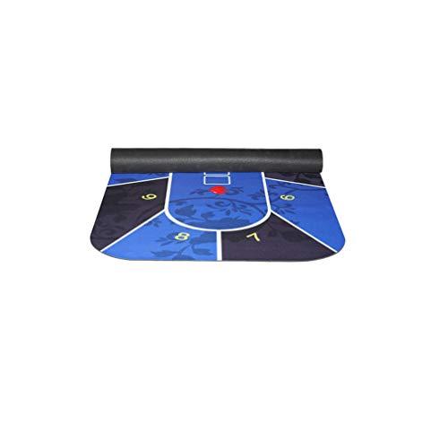 FAEIO rutschfest und wasserdicht Texas Hold 'em Gummimatte - Leicht zu tragen - 180 × 90 cm Sicherheit und Umweltschutz geruchlos Tischdecke Tischmatte Gummimatte - für Kartenspiele Blue
