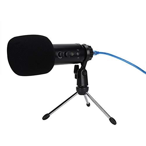 Bewinner Micrófono de Condensador Profesional, Estudio de Difusión del micrófono de grabación Conjunto de Red Canto Chat de Voz de grabación Personal, Ajustable Soporte de suspensión