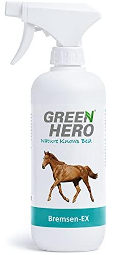 Green Hero Bremsen-EX Spray für Pferde Schützt vor Bremsen, Fliegen, Kriebelmücken, Hirschlausfliegen und andere Insekten, Abwehrspray mit Barrierewirkung, 500 ml