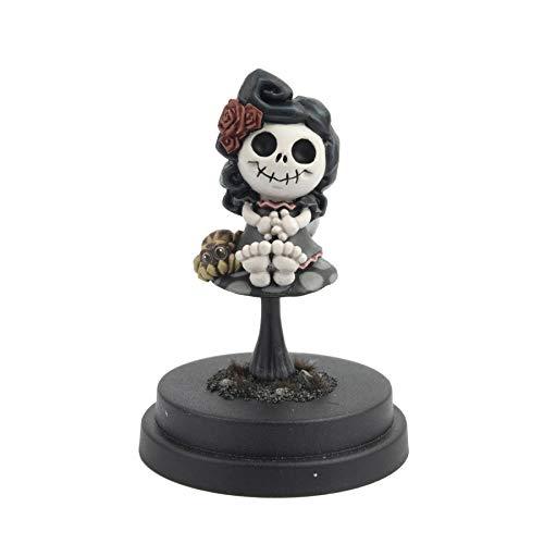 War World Gaming - Misfit el Hada Esqueleto con araña - 35mm, Figura coleccionismo, Pintura Miniatura, Wargame, Hadas, Día de los Muertos, Calavera