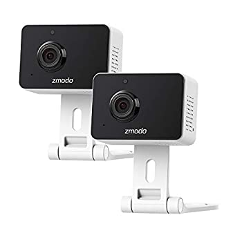 Zmodo Mini Pro 1080p Indoor Home Security Camera Wireless Baby Monitor Pet Cam Nanny Camera Two-Way Audio Night Vision Motion Detection Work with Alexa