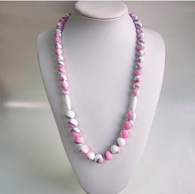 New Changeable Chewables silicone teething Necklace - Aubrey - Pink Camo