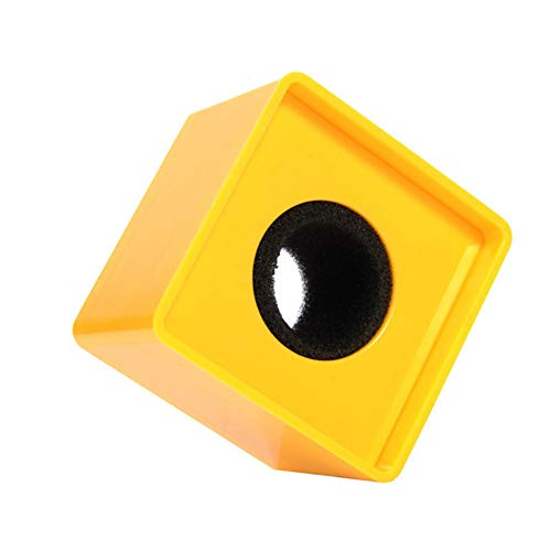 Aysekone Portable Yellow ABS Injection Molding Square Cube Shaped Interview Mic Microphone Logo Flag Station