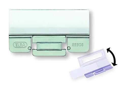 ELBA 100552070 Komfort-Sichtreiter vertic für Hängeregister 25 Stück aus PP Kunststoff mit Beschriftungsschildchen und aufklappbarer Rückwand farblos