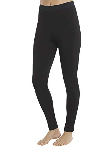 Cuddle Duds Women's ClimateRight Stretch Thermal Microfiber Warm Underwear (X-Large, Black)