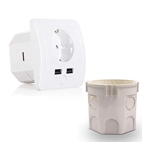 Enchufe WiFi inteligente, instalación de aparatos domésticos automáticos, control remoto de aplicaciones de teléfono móvil, compatible con Alexa Echo y Google Assistant