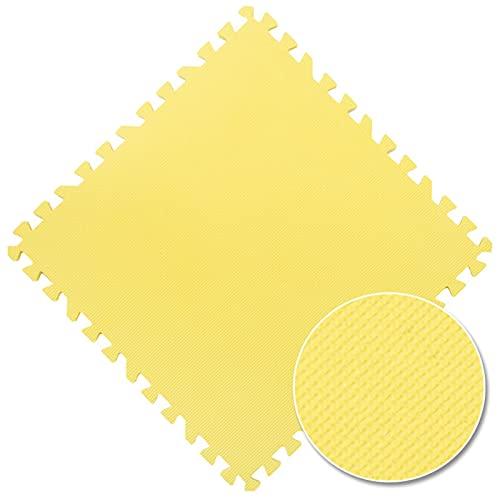 Suave EVA Espuma Puzzle Play Mats para niños Alfombras Toys Alfombra para niños Enclavamiento de Ejercicios Piso Azulejos Alfombra Alfombra Alfombra Decoración Hogar (Color : Yellow, Size : 16Pcs)