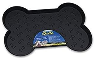 Loving Pets Bella Spill-Proof Pet Mat Small Size:Small Pack of 2 Color:Black