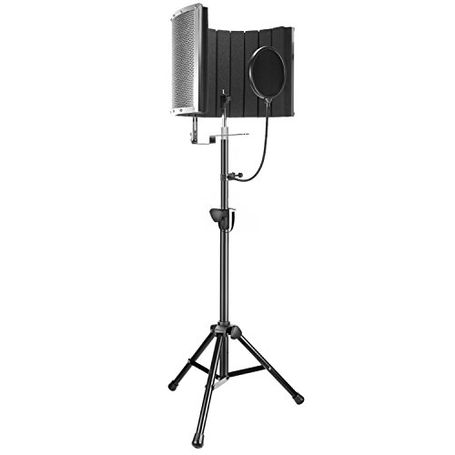 Neewer Professional Microphone Studio Recording Accessories Include: NW-6 Microphone Isolation Panel, Wind Screen Bracket Stand and Pop Filter for Vocal Acoustic Recording and Podcasting