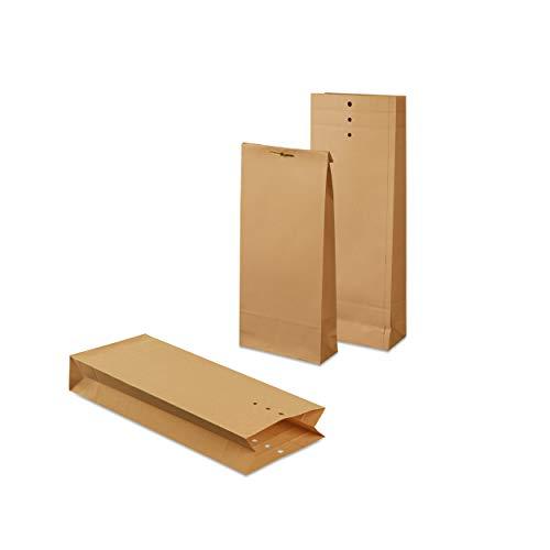 mashpaper Musterbeutel Klotzbodenbeutel 1000 Stück braun Nr. 5A Format: 120x305x50mm 103825